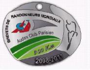 2011 300k Brevet Medal