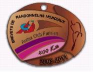 2011 400k Brevet Medal