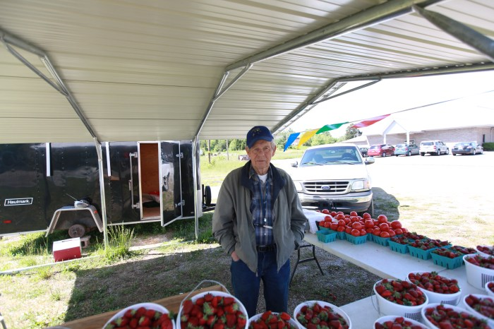 Paul sold me some Strawberries on the outskirts of Somerset, KY