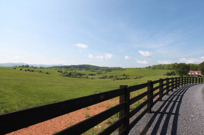 Farmland just shy of Lexington, VA