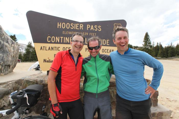 Paul, Terry, and Mike have successfully crested the continental divide!