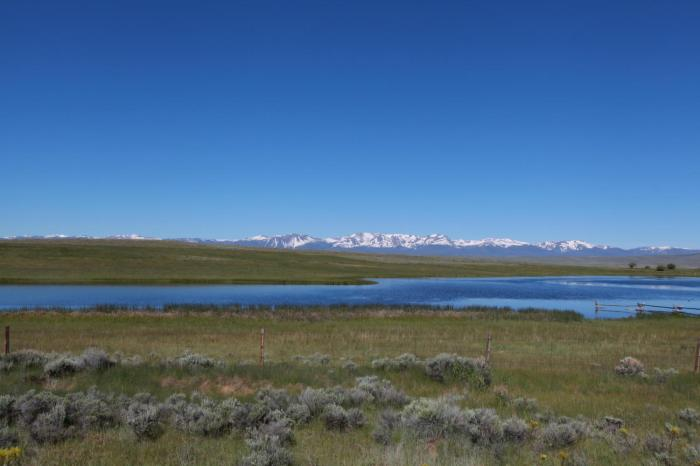 A final view of some of the big Colorado mountains as we left the state -- Walden, CO