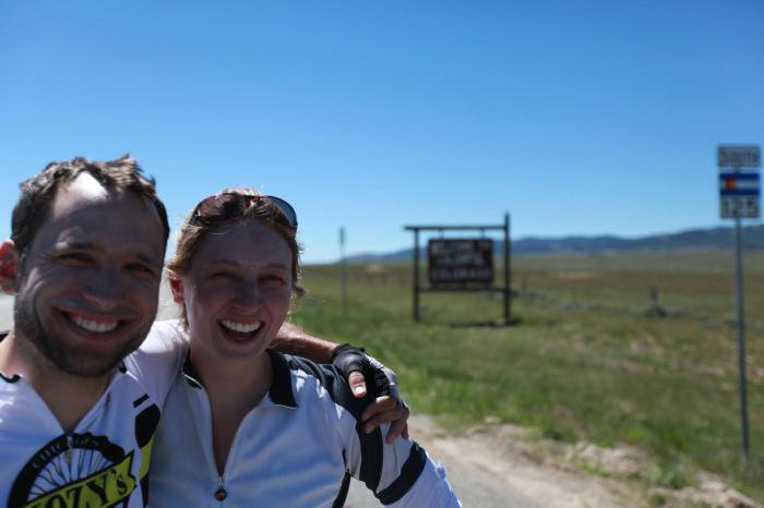 Katlyn and Andrew from Sommerville, MA about to enter Colorado.