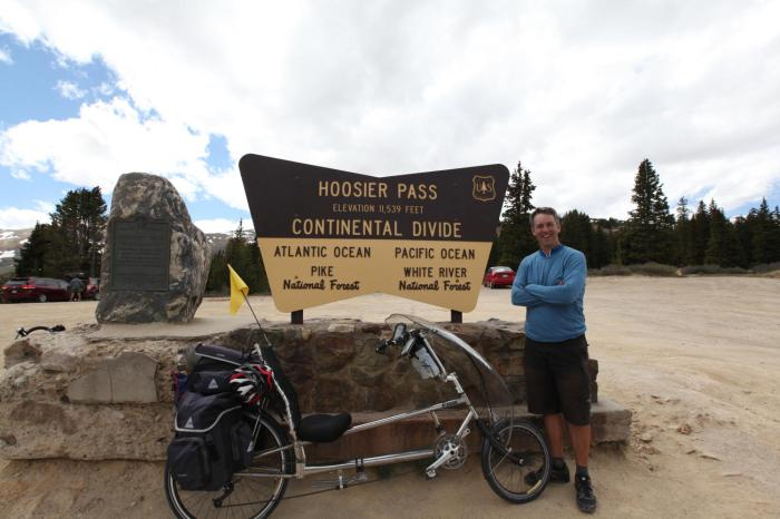 Mike & Persephone at Hoosier Pass.