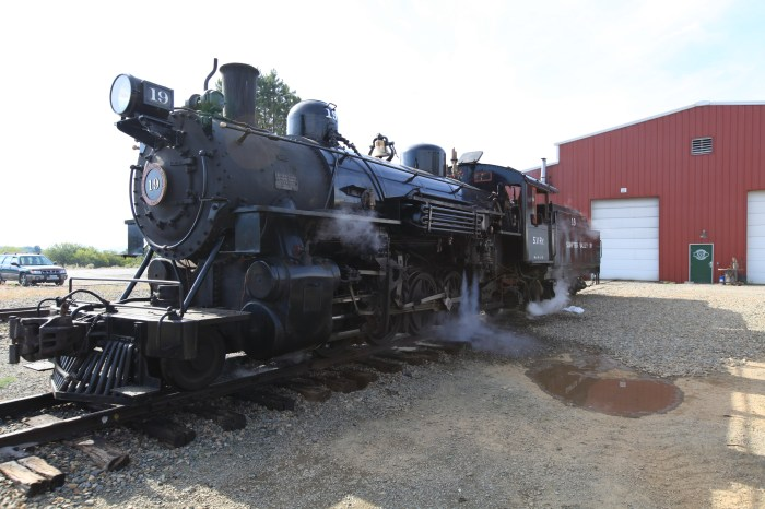 One of only 100 steam engine in operation in the US. I got to pester the engineers with questions as they warmed it up and pushed all sorts of levers and twisted all sorts of knobs. Then I went for a ride in the cab. If you aren't jealous, you were never a child. --Sumpter, OR