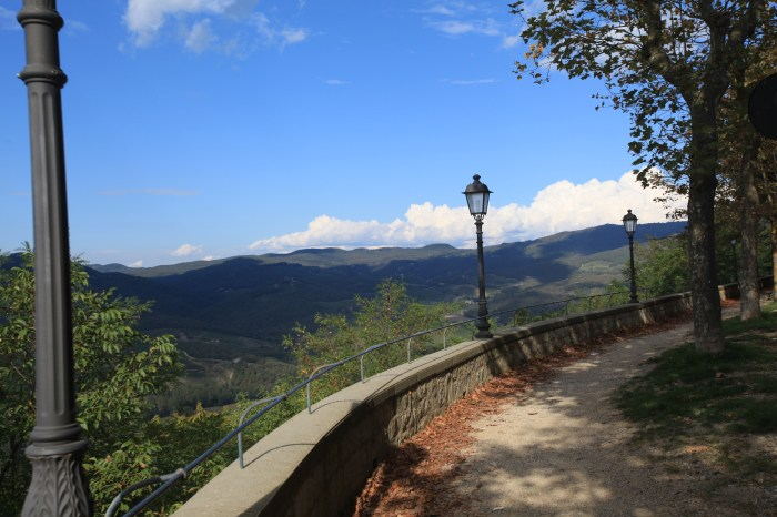 The view from the park at Radda in Chianti