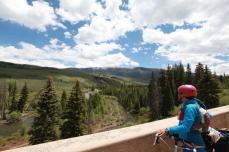 Chuck enjoys the grand Blue River valley of Colorado