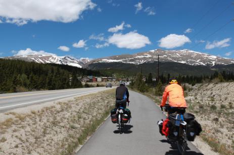 A wonderful bike path from Fairplay, CO to Alma, CO.