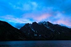 The sun setting over Rockchuck Mountain. --Grand Teton National Park, WY