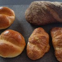 Small pleasures: fresh bread and pastries in the morning.