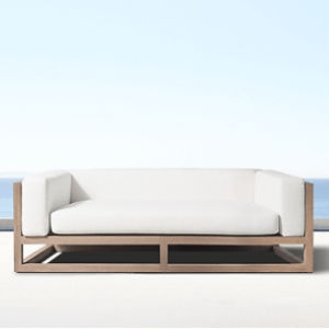 Aviara Teak Sofa available in 72, 99, and 126in