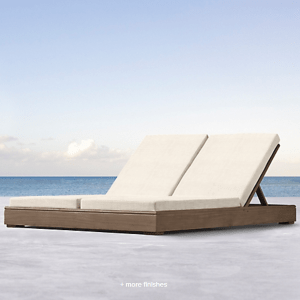 Costa Teak Double Chaise
