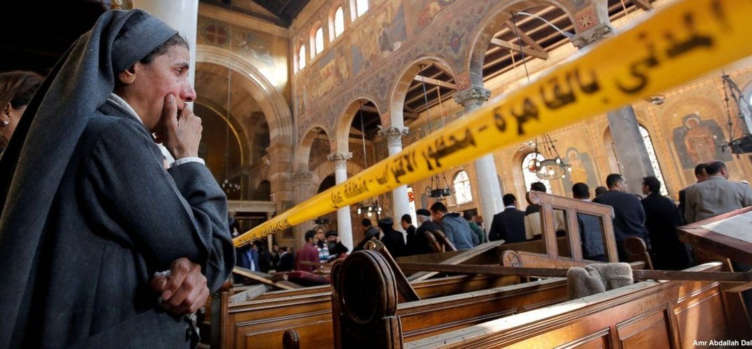 They're dying in Egypt while we're whining about Easter hat parades