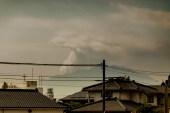 As we headed to Kagoshima airport, the local volcano, Sakurajima, is erupting