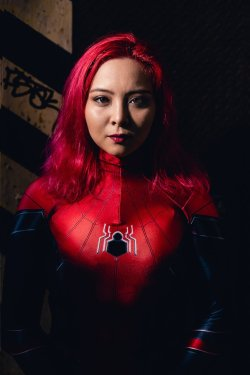 moody portrait of atlanta spiderwpman cosplay old fourth ward atlanta