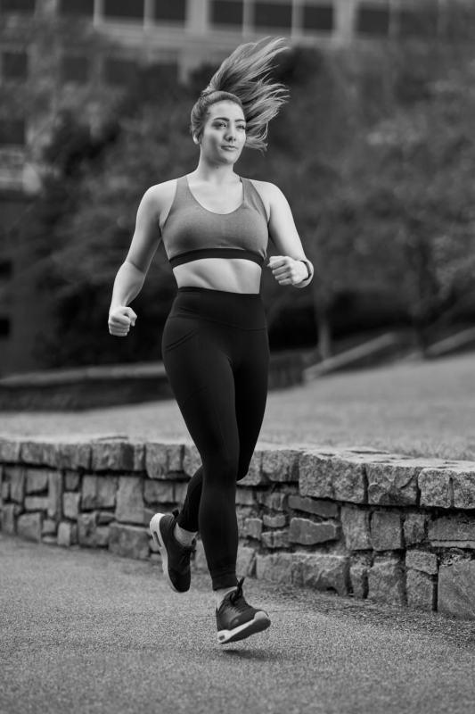 high speed sync athlete portrait