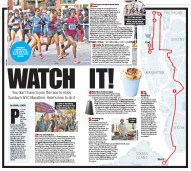 Map and design for NYC Marathon.