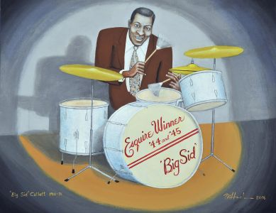 Big Sid Catlett, 2016</br> acrylic on canvas, 29″ x 40″</br> $3000