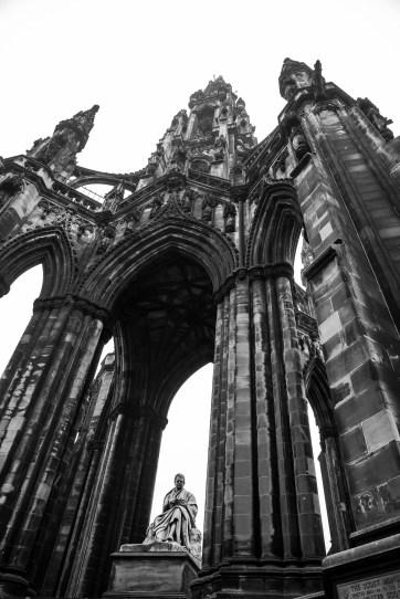 Scott Monument in Edinburgh, Scotland