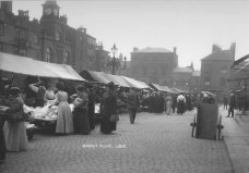 The Market Place, c. 1900, looking from north to south.