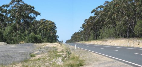 The road south . . .