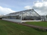 This quite new greenhouse, used in the C4 project, received severe damage