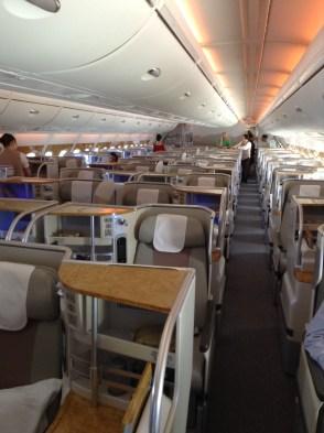 Business Class seat pods