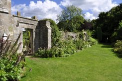 The south wall of the walled garden [7].