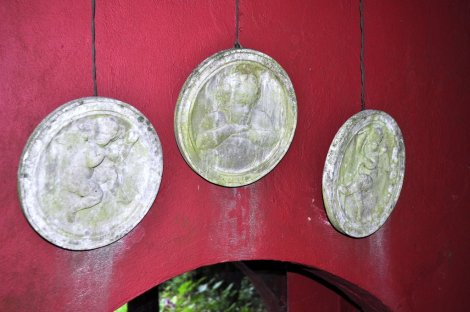 Detail from inside the peafowl house [8].