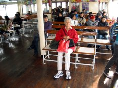 Enjoying the ferry crossing.