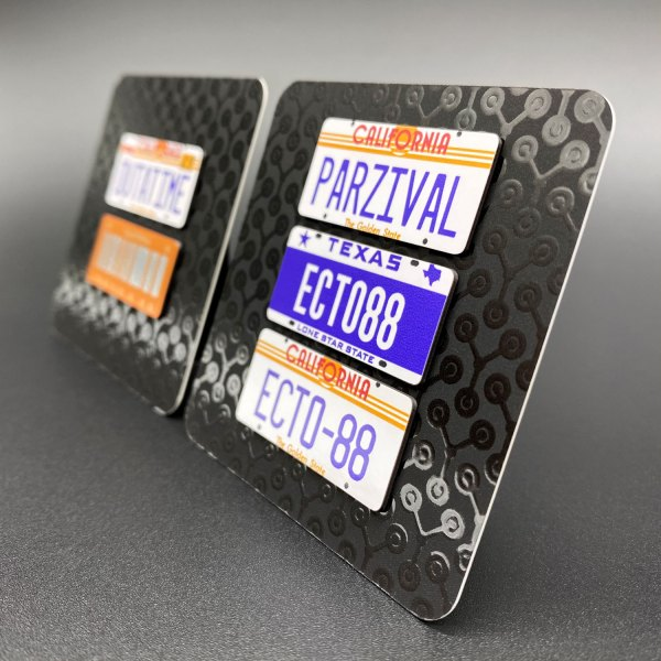 Examples of Magnetic Licence Plates on magnetic backing