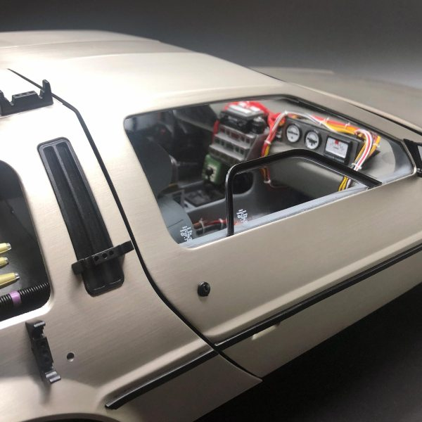 Side window sticker mods from Eaglemoss DeLorean Decal Set III