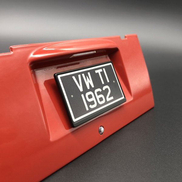 Mod to update existing VW T1 1962 licence plate