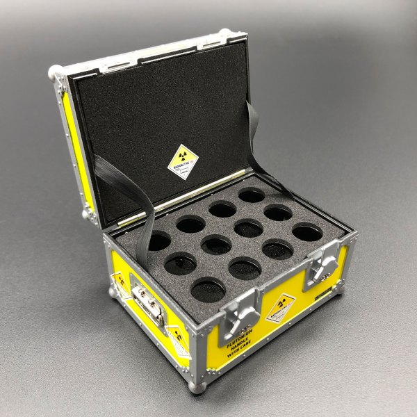 DeLorean Plutonium Case with foam inserts and stickers mods