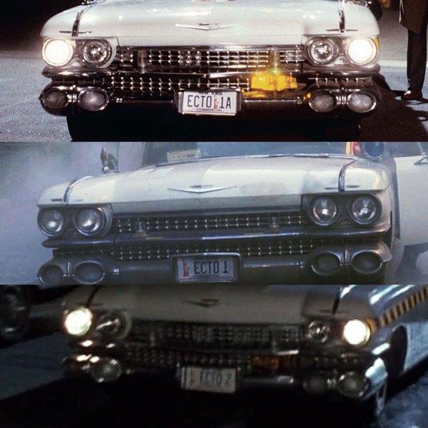 Original film stills of Ectomobile licence plates