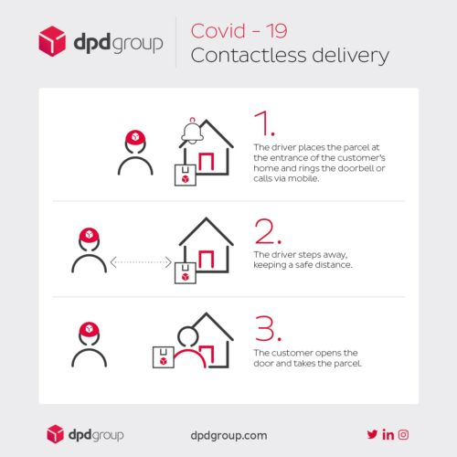 COVID-19 contactless delivery information from DPD Group