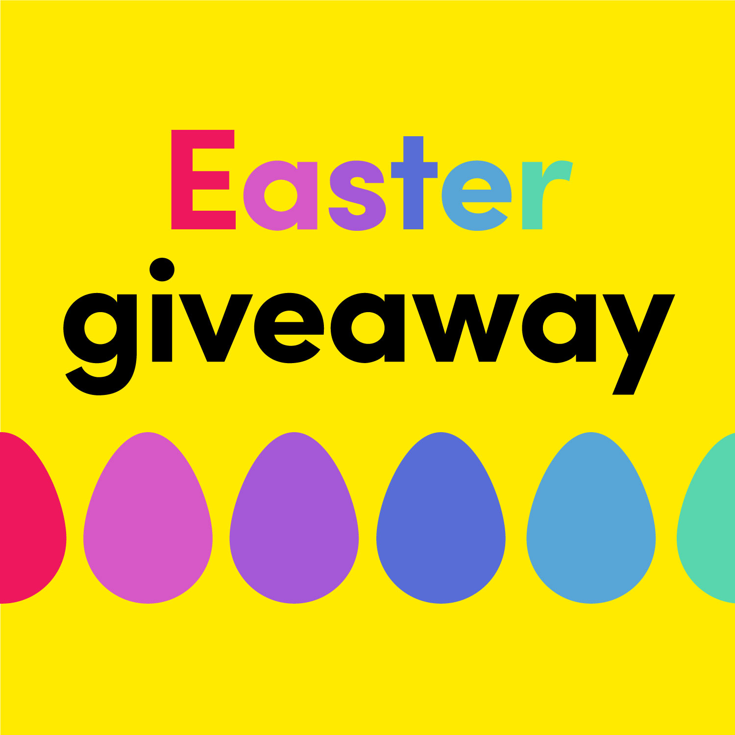 Easter giveaway graphic