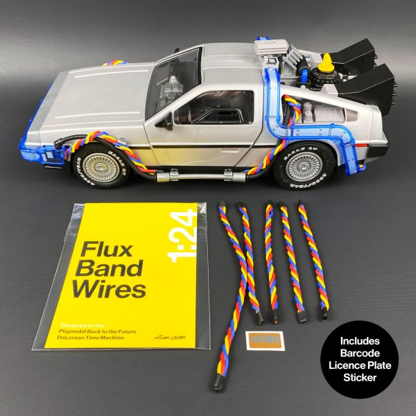 Flux Band Wires mod for Playmobil DeLorean model