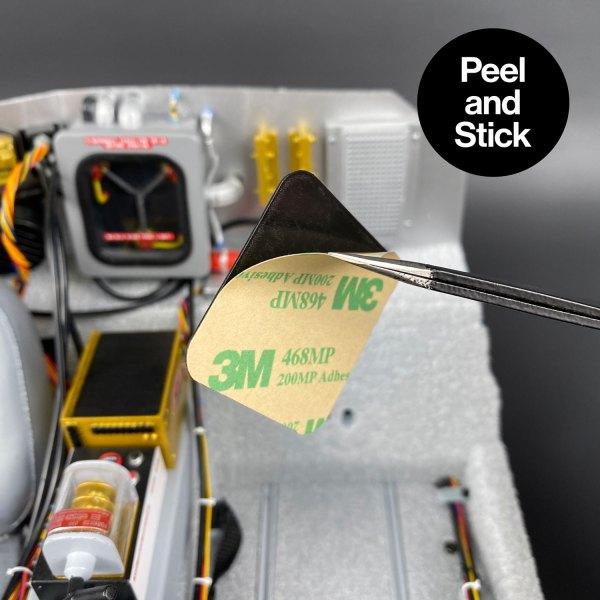 Peel and Stick Bulkhead Storage Lid mod for model DeLorean