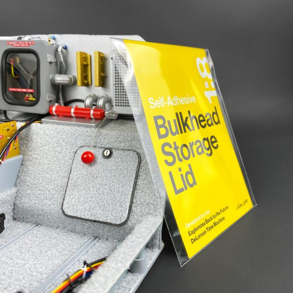 Eaglemoss DeLorean interior with Bulkhead Storage Lid mod package