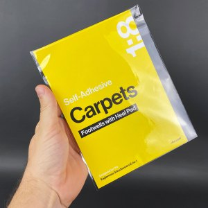 Self-Adhesive Carpets with Heel Pad mod in packaging