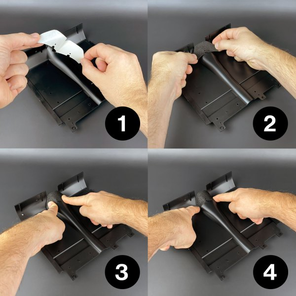 Ecto-1 Self-Adhesive Carpets installation steps 1–4