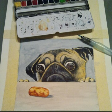 Perro. Watercolor