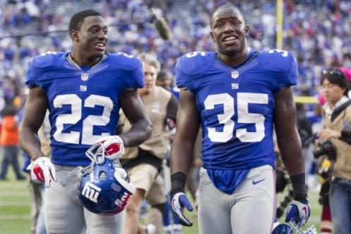 David Wilson, Andre Brown, New York Giants