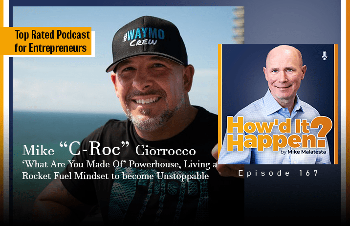 Mike C-Roc Ciorrocco, What Are You Made Of Powerhouse, Living a Rocket Fuel Mindset to become Unstoppable