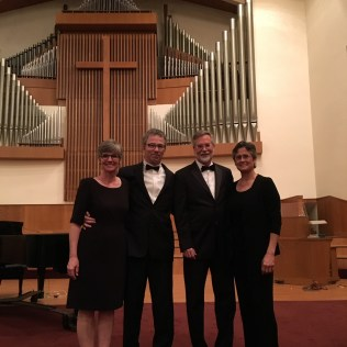 After the Choral Union concert of Brahms' Requiem