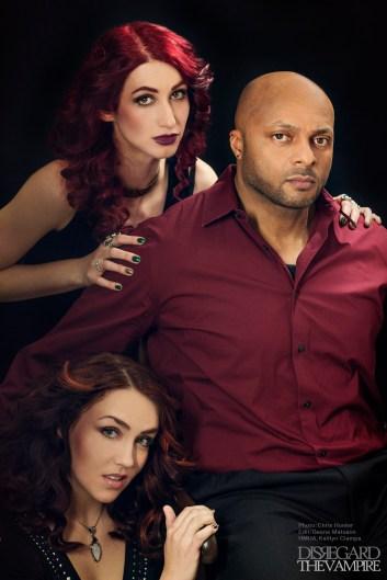 Geena Matuson, Anna Rizzo and Jose Gonsalves of Disregard The Vampire