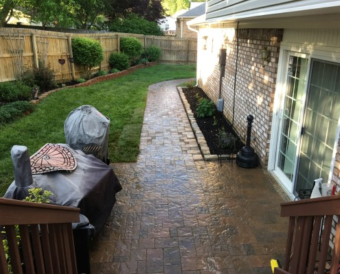 Paver Patio and Paver Walkway with Clear Coat