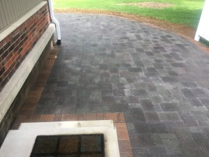 Paver Walkway against house with Fire Pit