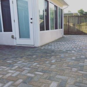 Patio Pavers around Sunroom
